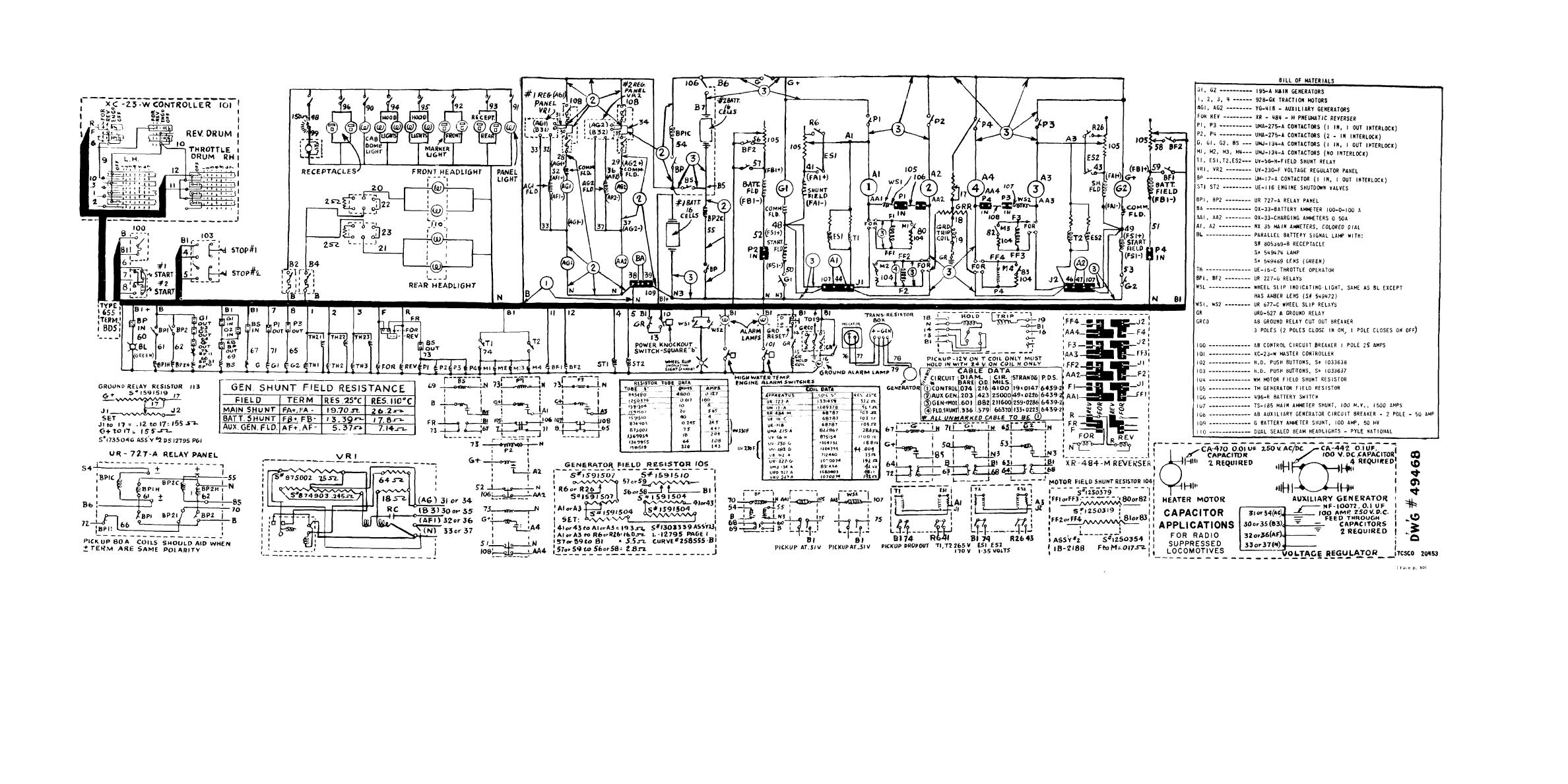 Figure 44  Locomotive Wiring Diagram